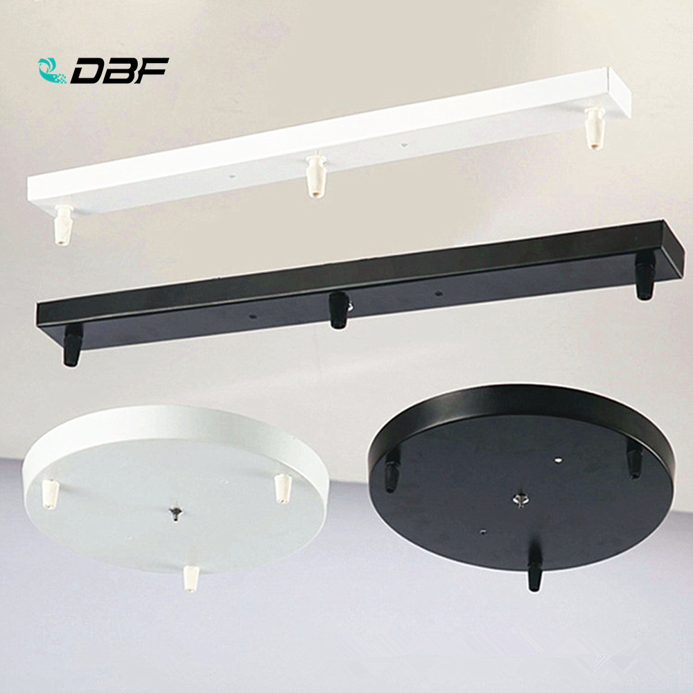 [DBF] Pendant Lamp Accessory 3 Lamps Bar Round Ceiling Mounted Plate Canopy Customize For Pendant Lights Hanglamp