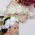 Coreano de noiva cocar Coreano handmade laço nupcial acessórios para o cabelo flor cabeça de casamento fontes do casamento por atacado