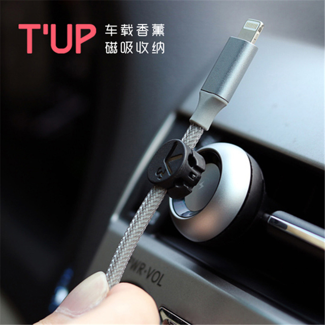 New Arrival Car Perfumes 2 in 1 Air Refreshener Fragrance Vent Magnetic Cable Holder Organizer