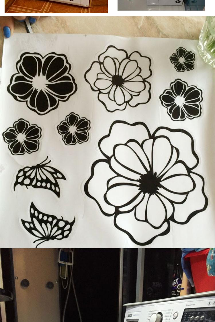 HTB1N2KpKFXXXXccXXXXq6xXFXXXs - High Quality Household Washing Machine Refrigerator Stickers Flowers Butterflies Wall Stickers Home Decor For Kitchen Bathroom