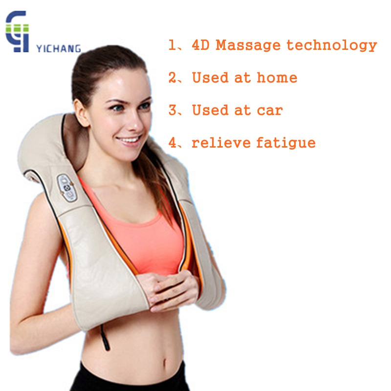 U Shape Electrical Shiatsu Back Neck Shoulder Body Massager 3D infrared Kneading Massage Pillow With Heat Relax Device for Home alileader professional massager simulated human 4d shiatsu massage pillow with heat for back neck body massage and relaxation