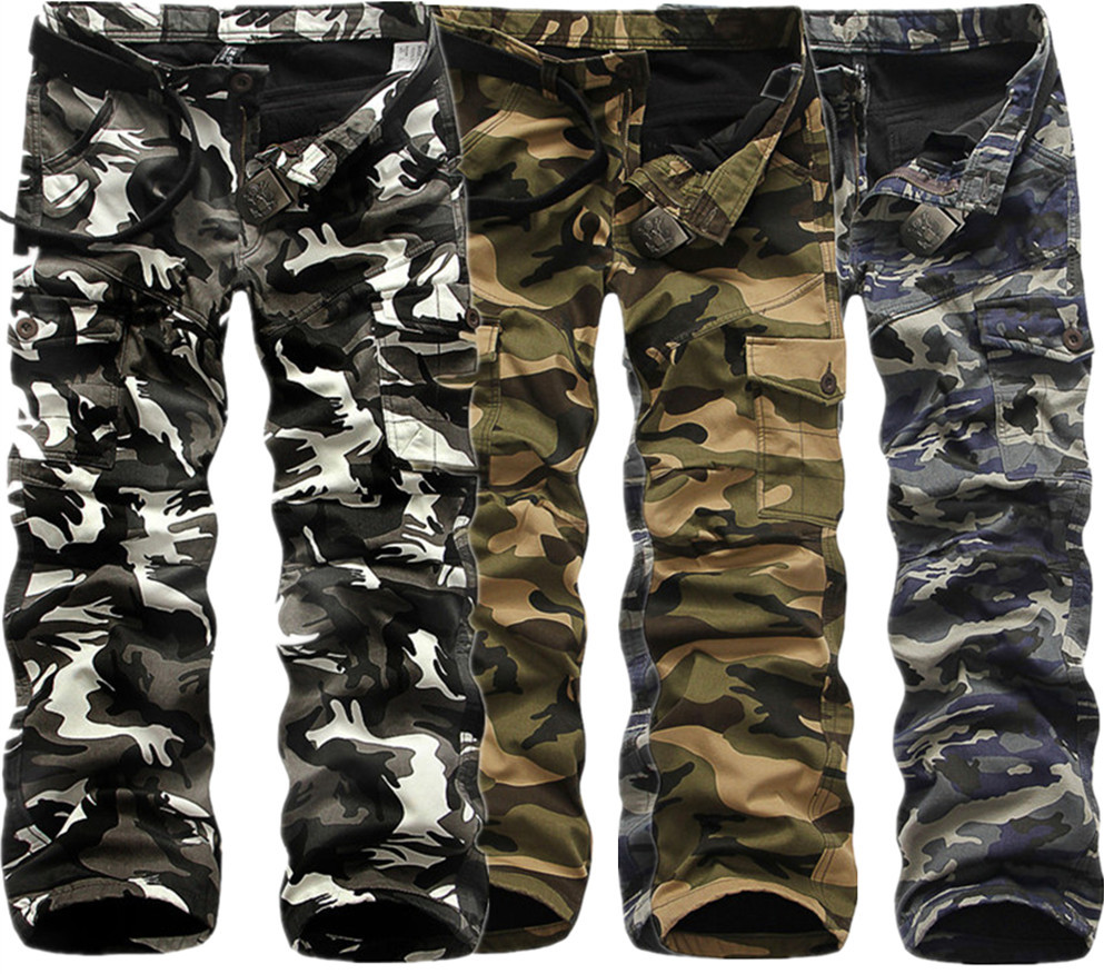 Winter Thicken Fleece Army Cargo Tactical Pants Overalls Men's Military Cotton Casual Camouflage Trousers Warm Pants 5