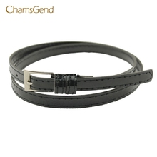 Chamsgend Coolbeenr belts for women belt Hot Beautiful Woman Multicolor Small Candy Color Thin Leather Belt Dec9