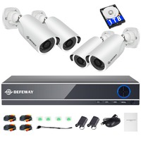 DEFEWAY 1080P HD 2000TVL Outdoor Security Camera System HDMI CCTV Video Surveillance 8CH DVR Kit 1TB