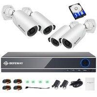 DEFEWAY 1080P HD 2000TVL Открытый безопасности камера системы HDMI CCTV товары теле и видеонаблюдения 8CH DVR комплект 1 ТБ HDD AHD 4 комплект новый