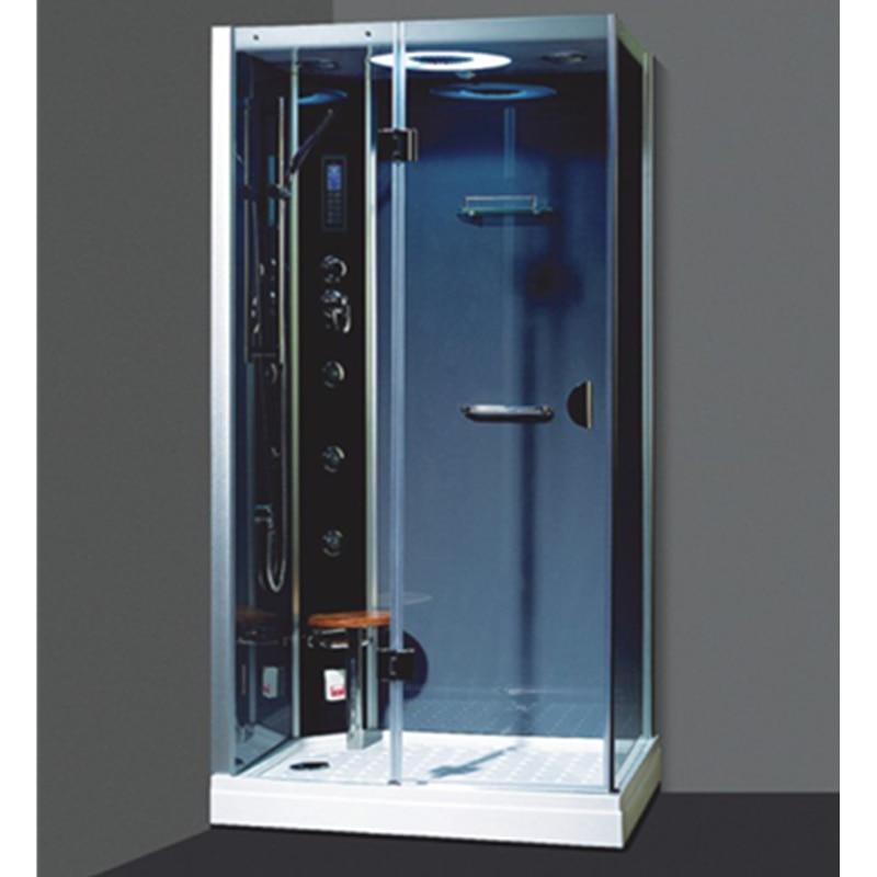 Multi-functional steam shower room with whirlpool bathtub