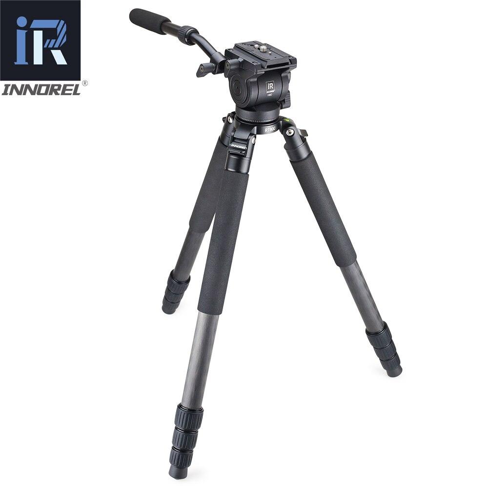 RT80C Professionelle kohlefaser video flüssigkeit kopf stativ für ARRI ROT BMCC DSLR kamera camcorder 20 kg last schüssel stativ