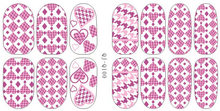 2015 Top Fashion Beauty Water Decals Nail Art Qj - Q089 Q100 Stick Stickers Noctilucent Post And Colorful Swallow Gird 14(China)