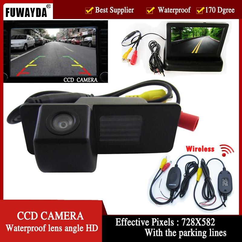 FUWAYDA Wireless CCD Car RearView Camerafor Chevrolet Aveo Trailblazer Opel Mokka Cadillas SRX CTS with 4