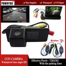 FUWAYDA Wireless CCD Retrovisor Del Coche Camerafor Chevrolet Aveo Trailblazer Opel Mokka Cadillas SRX CTS, con 4.3 Pulgadas Del Monitor plegable