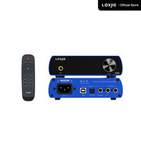 LOXJIE D20 Audio DAC Desktop Digital to Analog Converter & Headphone Amp Chip AK4497 Support 32bit/768kHz DSD512 OLED Display