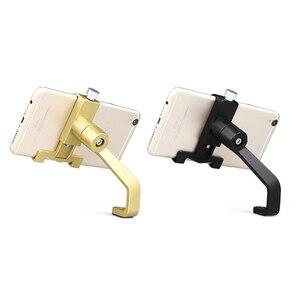 Image 2 - Evrensel Alüminyum Alaşım Motosiklet Telefon tutucu destek Telefon dikiz aynası Moto telefon tutucu GPS Bisiklet Gidon Tutucu