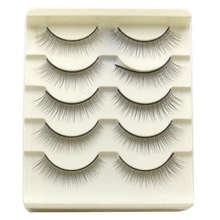 Fashion 5 Pair Handmade Natural False Eyelashes Free Shipping