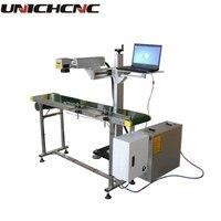 Unich cnc voando em linha máquina da marcação do laser com transporte