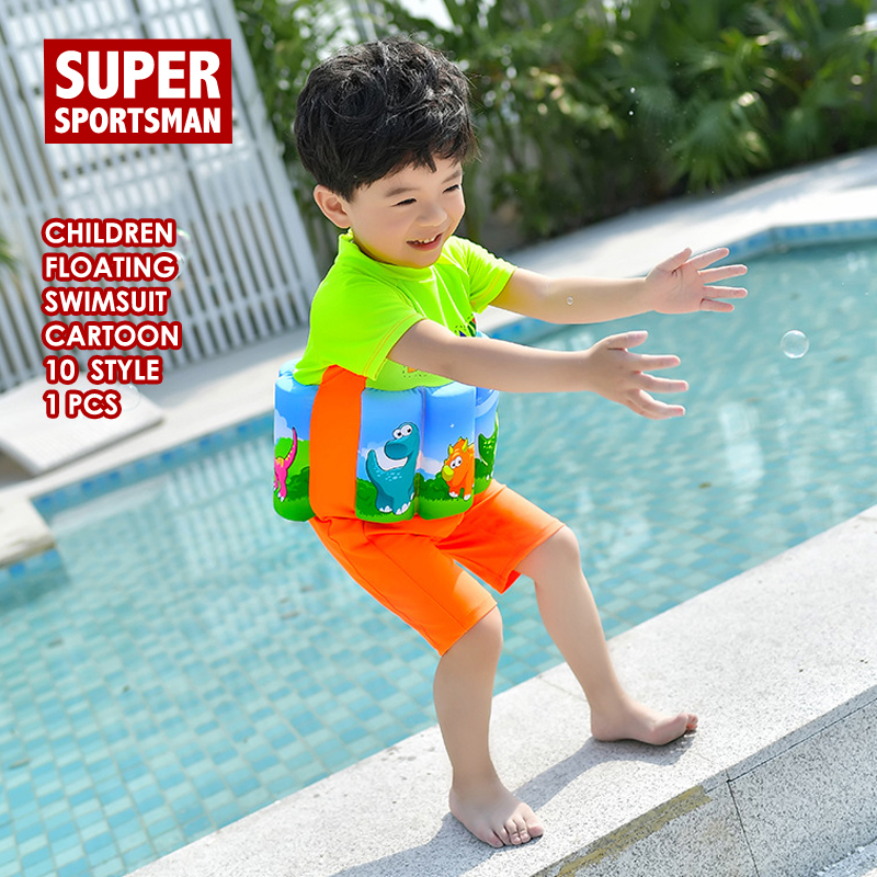 05adb5aaab Children Cartoon Dinosaur Surf Swimsuit Kids Swim Rashguard Baby Girls  Floating Swimwear Toddler Boy Surfing Swimming Suit Beach