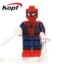 XH 680 Building Blocks Super Heroes Homem Aranha Ladrão Mascarado Com Laço Vermelho Tijolos Educacionais Modelo Coleção Brinquedos do Presente Das Crianças
