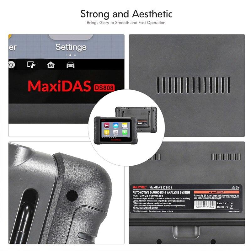 Image 3 - Autel MAXIDAS DS808 OBDII Автомобильный сканер OBD2 диагностический инструмент для ЭБУ информация ключ кодирования код считыватель PK Maxisys MS906-in Анализатор двигателя from Автомобили и мотоциклы