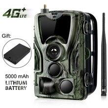 Cámara de caza HC 801LTE 4G, cámara de rastreo de 16MP y 64GB, IP65, trampas para fotos, 0,3 s, cámara salvaje con batería de litio de 5000Mah para regalo