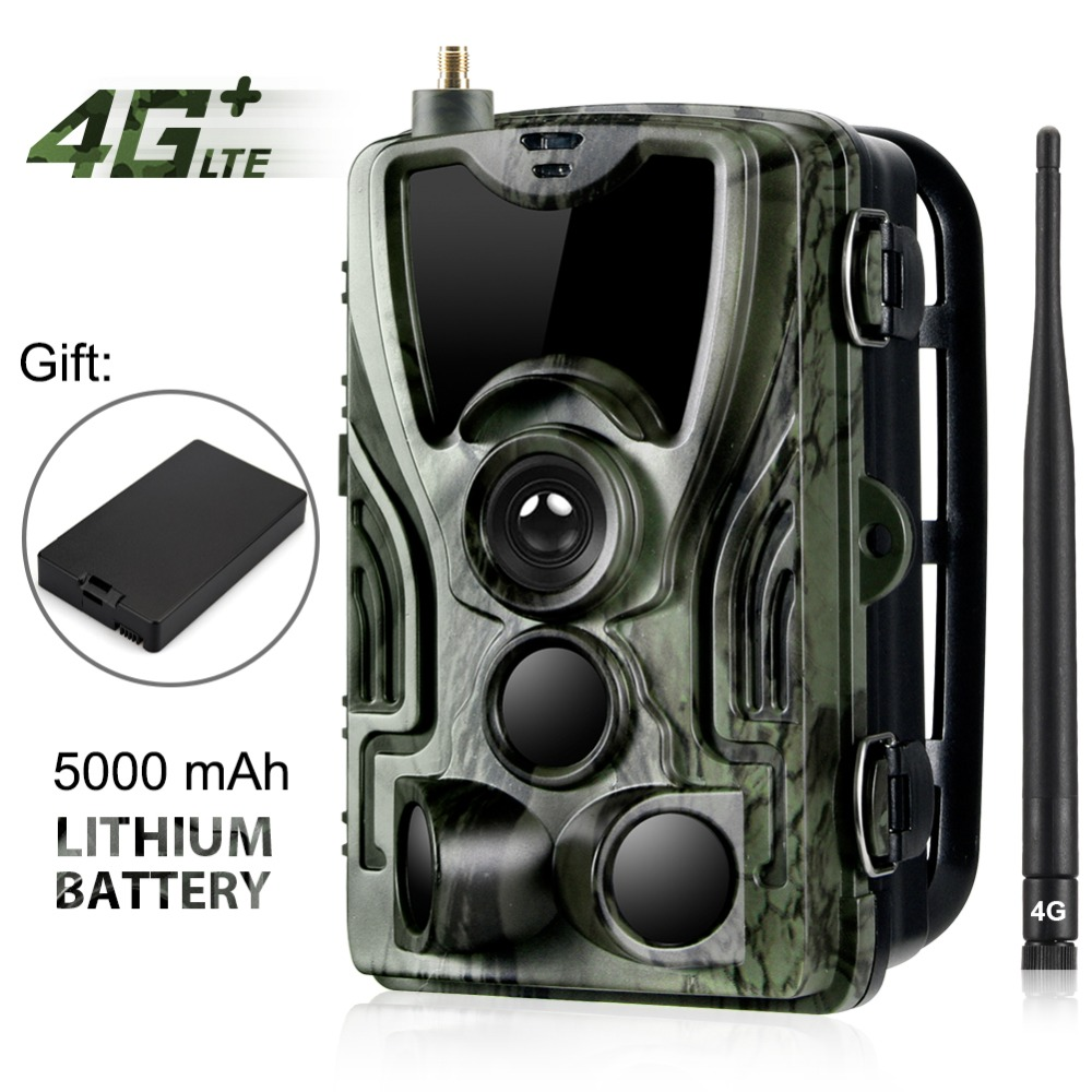 HC 801LTE 4G Hunting Camera 16MP 64GB Trail Camera IP65 Photo Traps 0.3s Wild Camera With A 5000Mah Lithium Battery for a gift-in Hunting Cameras from Sports & Entertainment