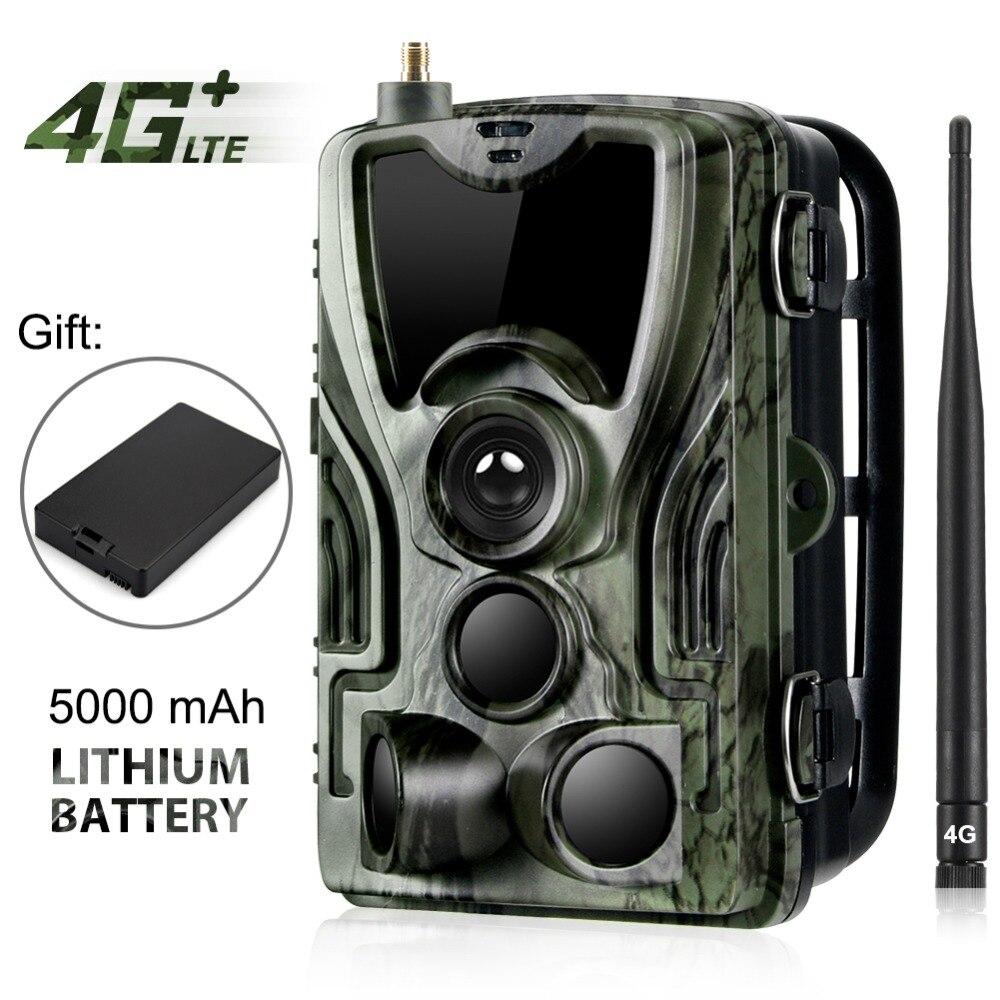 HC-801LTE 4G cámara de caza 16MP 64 GB Cámara sendero IP65 foto trampas 0,3 s salvaje de la cámara con un 5000 mah batería de litio para un regalo