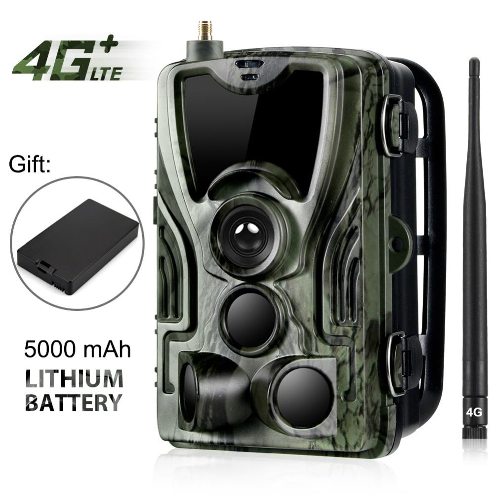 HC-801LTE 4G caméra de chasse 16MP 64 GB caméra de sentier IP65 Photo pièges 0.3 s caméra sauvage avec une batterie au Lithium 5000 Mah pour un cadeau