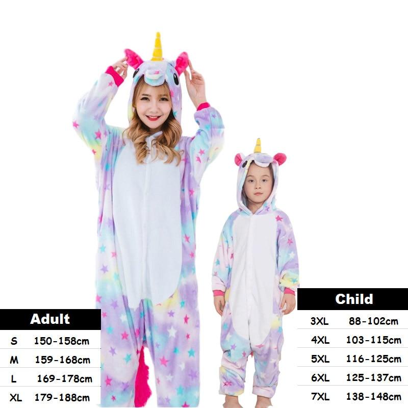 New Adult pijama de unicornio Pajamas Sets Women Men Unisex Animal Kigurumi Cartoon Onesie Sleepwear Kids Boys Girls Pajamas