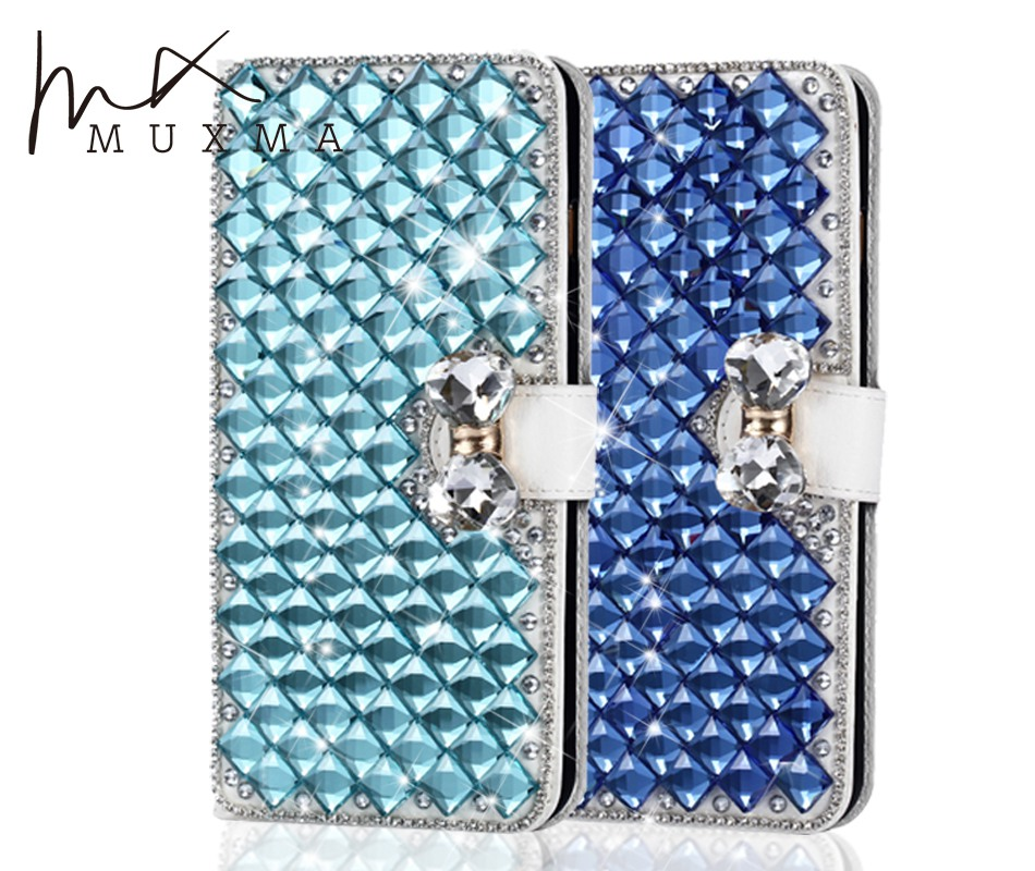 Galleria fotografica Diamond Case For Samsung Galaxy J5 2016 J510FN J510F J510G J510Y Glitter Rhinestone Leather Case Flip Wallet Crystal Phone Cover