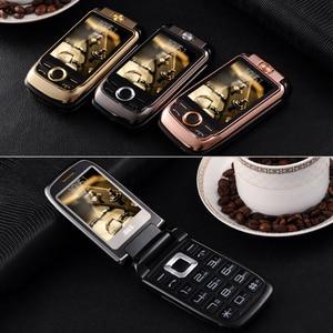Image 4 - Blt v998 flip tela dupla dupla dois tela de vibração do telefone móvel tela sensível ao toque sim duplo voz mágica telefone celular p077