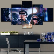 Home Decor Wall Picture Framework One Set 5 Pieces Canvas Printed Painting Movie Ready Player Role Poster Modern Artwork