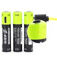 ZNTER 1,5 V AAA 400 mah литий-полимерный литий-ионный с батареей заряжаемой через USB батарея с USB зарядка линии