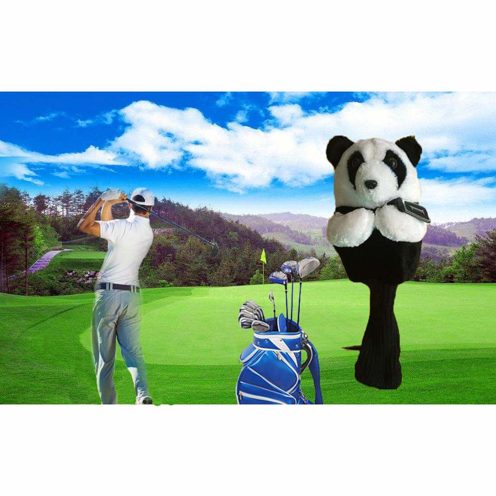 Golf Iron Putter Protective Head Cover Cute Spotted Panda Golf Club Headcover Set