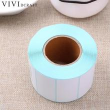 Vividcraft 2000Pcs/Roll Adhesive Thermal Label Sticker Paper Supermarket Price Blank Label Direct Print Stickers 30mm x 10mm