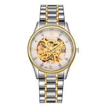 Deporte de Carreras de Diseño de Caja de Acero Inoxidable de Los Hombres Relojes Hombre Militar de Calidad Marca de Lujo Mecánico Automático Esquelético Del Reloj