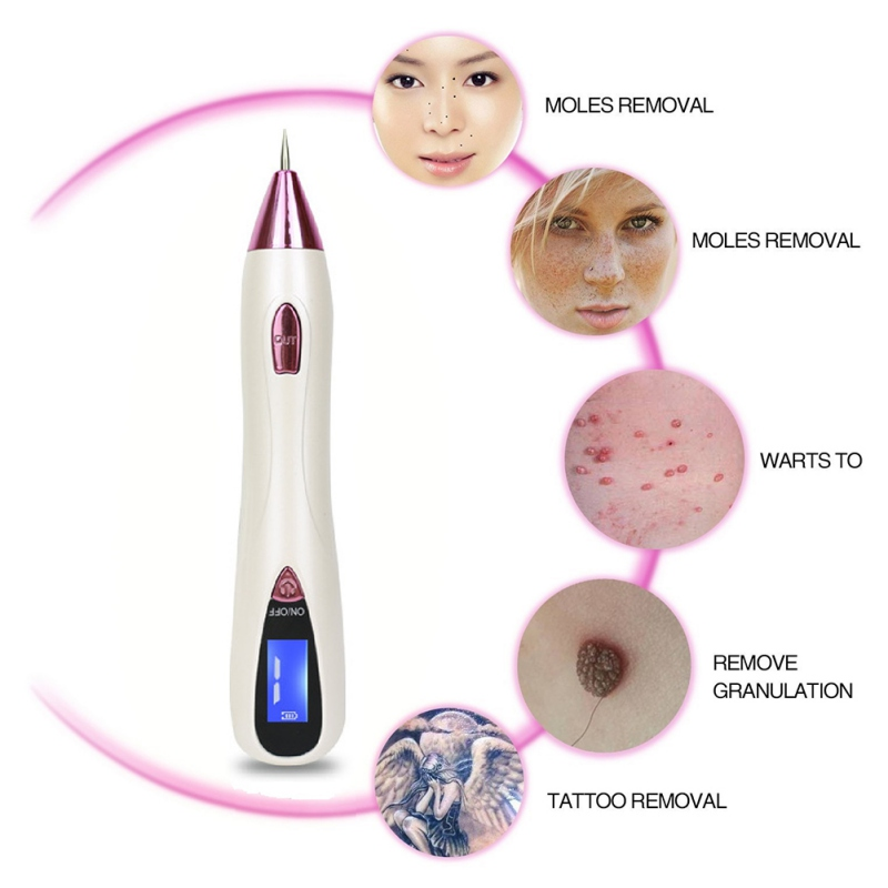 New Face Makeup Tools Freckle Moles Removal Laser USB Pen LCD Display Sweep Mole Dark Spot Remover Machine Charged Dot Mole Pen