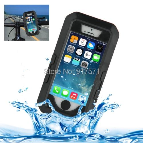 Capa para o iPhone 5 5S 5C Waterproof Case à prova d ' água, 100% à prova de choque bicicleta Mount Holder Case para Apple iPhone 5S 5C 5 iPhone5s Muti cores Universal