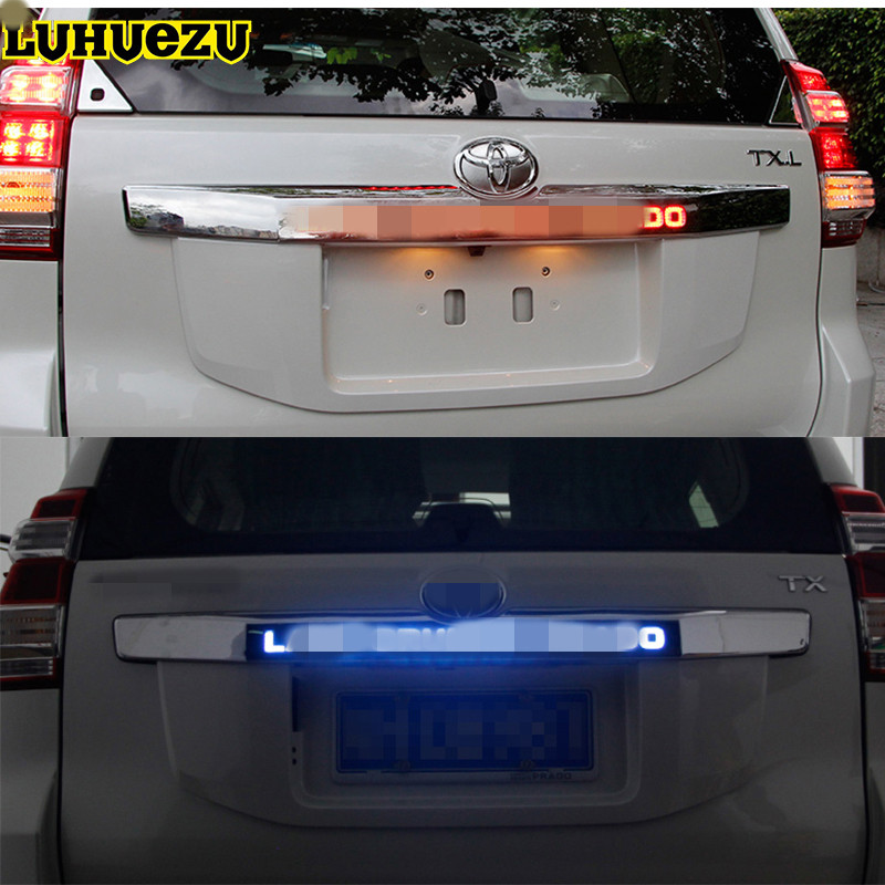 Luhuezu Door Cover Rear Trunk Lid Cover With Led Light Styling Cover For Toyota Land Cruiser