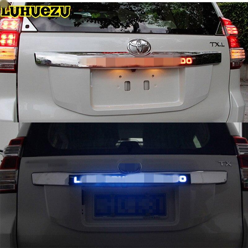 Luhuezu двери Крышка Задняя Крышка багажника Крышка со светодиодной подсветкой Стайлинг Обложка для Toyota Land Cruiser Prado lc150 Интимные аксессуары 2014