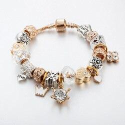 DIY perlé fait main bracelet bijoux personnalité ensemble tarière tortue pendentif bracelet avec haute qualité blanc verre perles bracelet