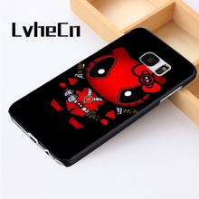 LvheCn phone case cover For Samsung Galaxy S3 S4 S5 mini S6 S7 S8 edge plus Note2 3 4 5 7 8 Hello Kitty Deadpool Superhero