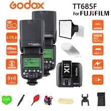 2x Godox TT685F TT685 2.4G Wireless TTL HSS 1/8000 s Speedlite Flash + 15*17 softbox + X1T-F Trigger Transmitter for Fujifilm