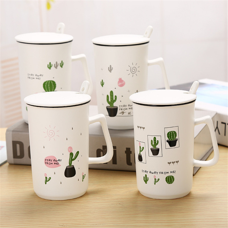 Creative Cactus Plant Coffee Mug Large Capacity Heat-Resistant Breakfast Milk ,Tea Mug Drinkware Unique Gift