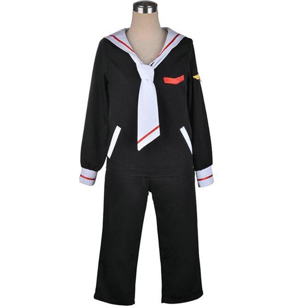 Cardcaptor Sakura Syaoran Li School Uniform Navy sailor Uniform Cosplay Costume hat top pants suit outfit halloween costume