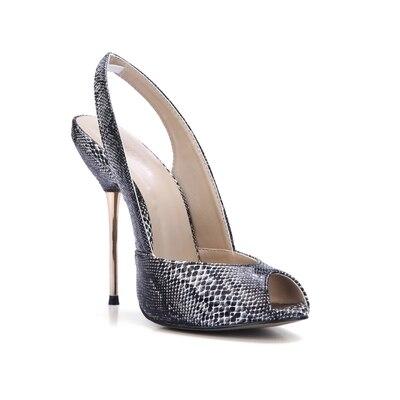 Picture Toe Cm Chaussures Serpent Sandales Peau Mode Style Nouveau as Fête Talon Métal 5 Retour Grande Taille Sur Glissement Picture Sangle La Peep As 10 D'été Tenue Femmes De vwf0nqC