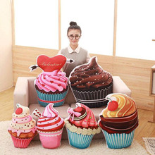 1PC Creative 3D real life ice cream Cake Cones pillow stuffed plush Home Pillow office nap pillow cushions