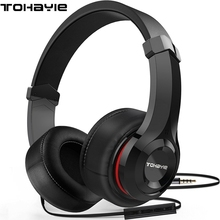 ToHayie Earphones Wired Stereo Gaming For PC Music DJ Phone Headsets With Mic