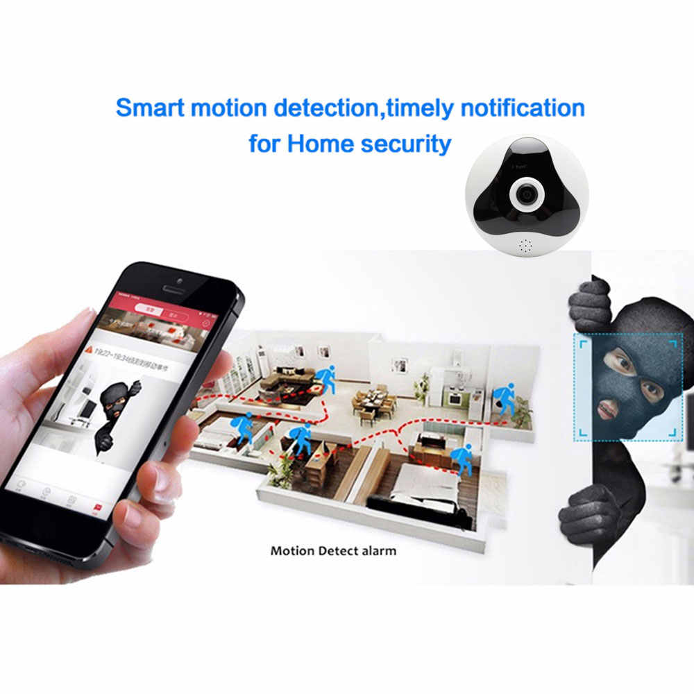 YuBeter 1080p 2MP Wireless Camera Bulb 360 Wifi IP Panoramic Camera CCTV Home Security Video Surveillance Infrared Night Vision
