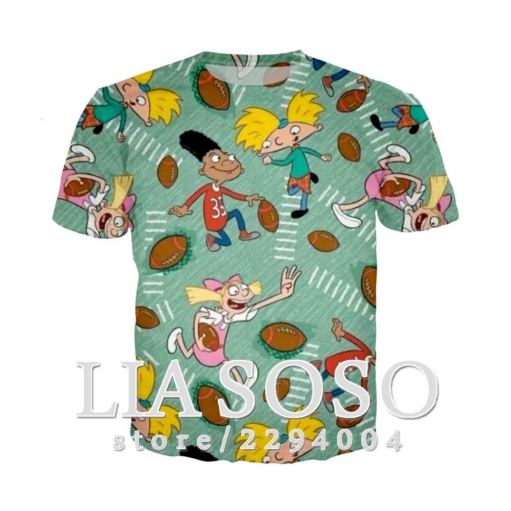 Hey Arnold! T-shirt Short Sleeve Tshirt 3d Print Fashion Newly Arrived Women Men Casual Funny Comfort Tshirt Freeshipping