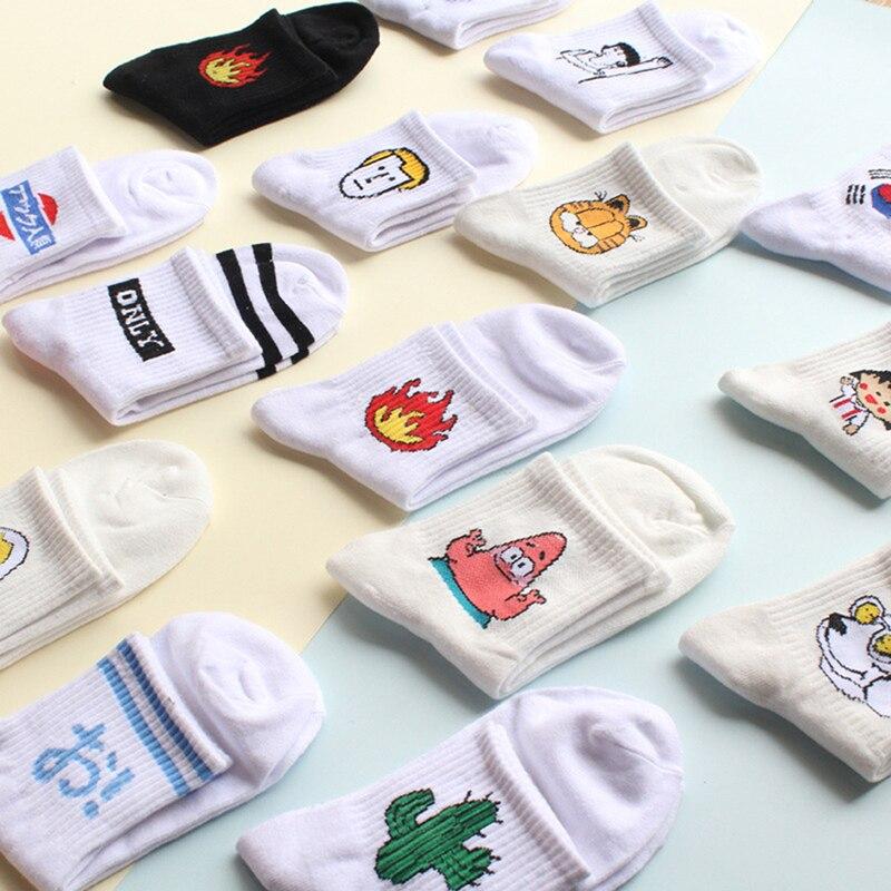 1 Paar Frauen Und Männer Socken Lustige Kaktus Katze Muster Liebhaber Sox Harajuku Casual Socken Mode Paare Socken Weich Und Leicht