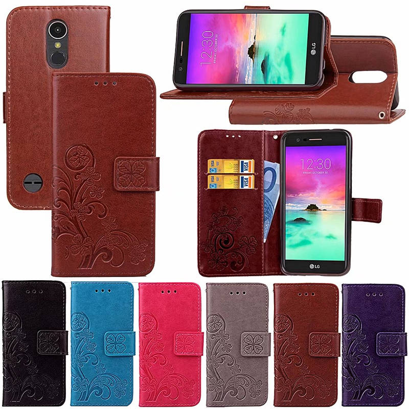 For LG K20 Plus TP260 Case Luxury Wallet PU Leather Back Cover Phone Case For LG K20 V K20V VS501 Case Flip Protectiver Bag