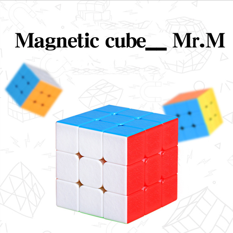 Shengshou 3x3x3 Mr.M Magnetic Magic Puzzle Cube Profissional Competition Speed Magnets Cubo Magico Stickerless Toys For Children